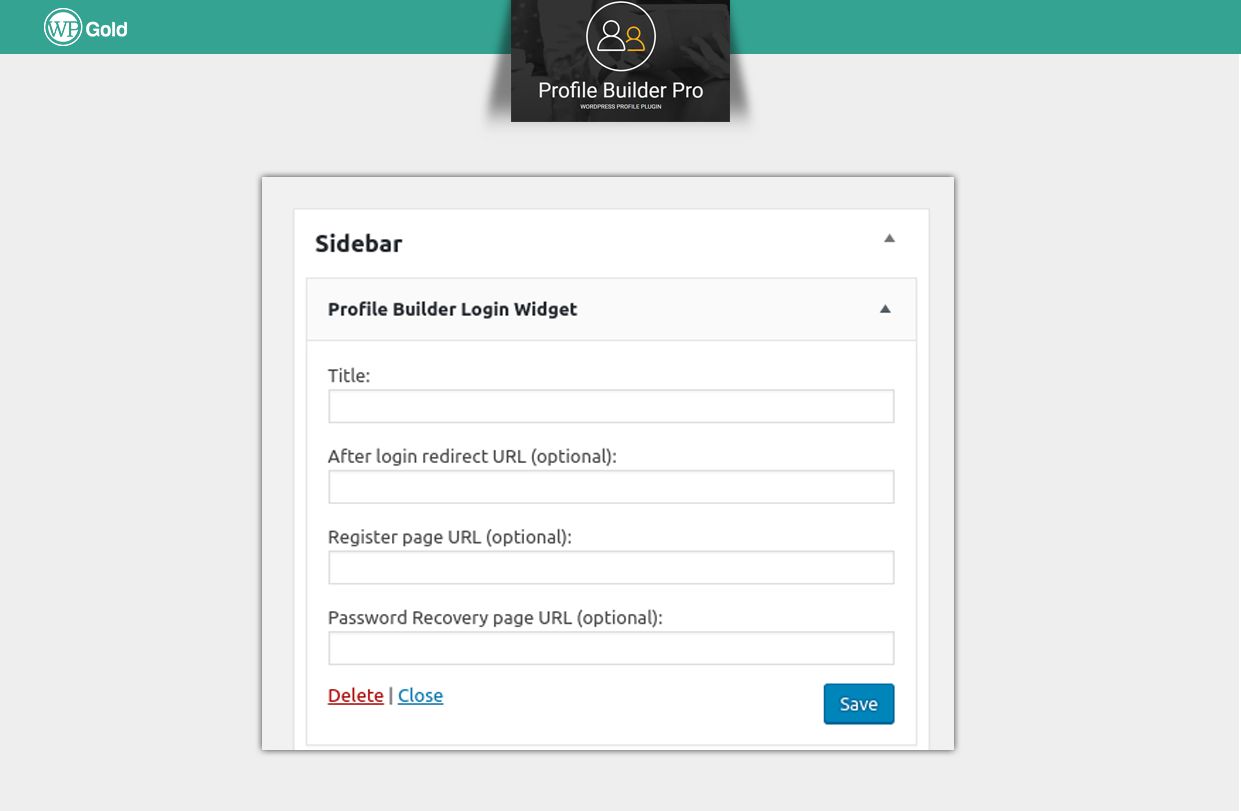 ProfileBuilder востановление пароля