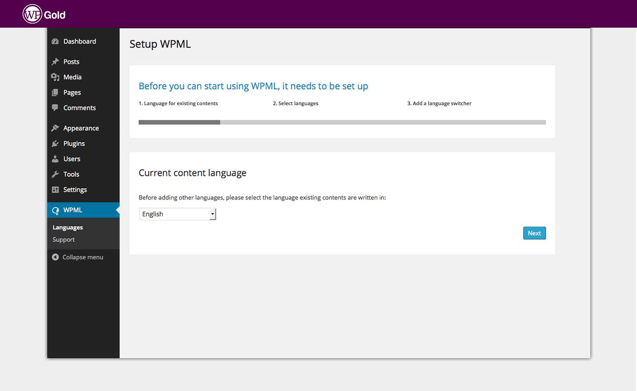 Установка WPML