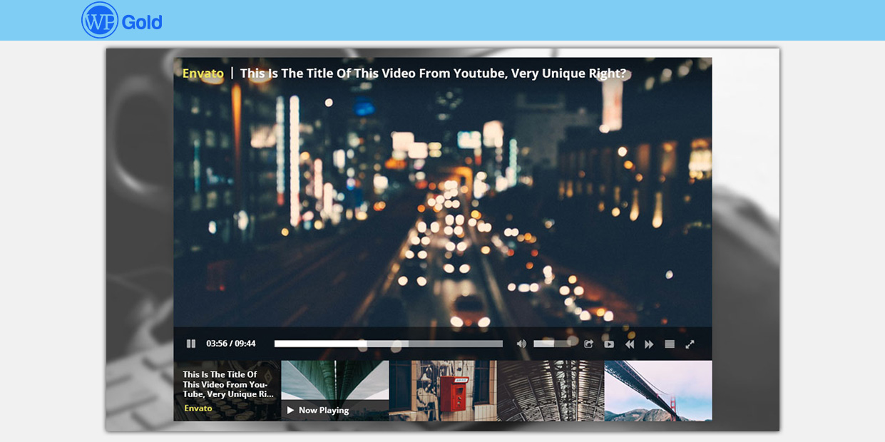 Wordpress Responsive YouTube Playlist Video Player