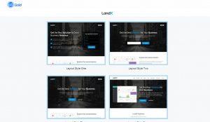 LandX — многоцелевая тема