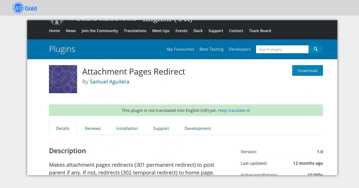 Attachment-Pages-Redirect