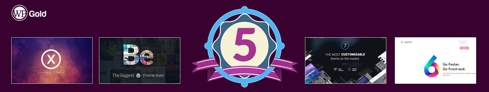ТОП-5 наиболее кастомизированных тем WordPress