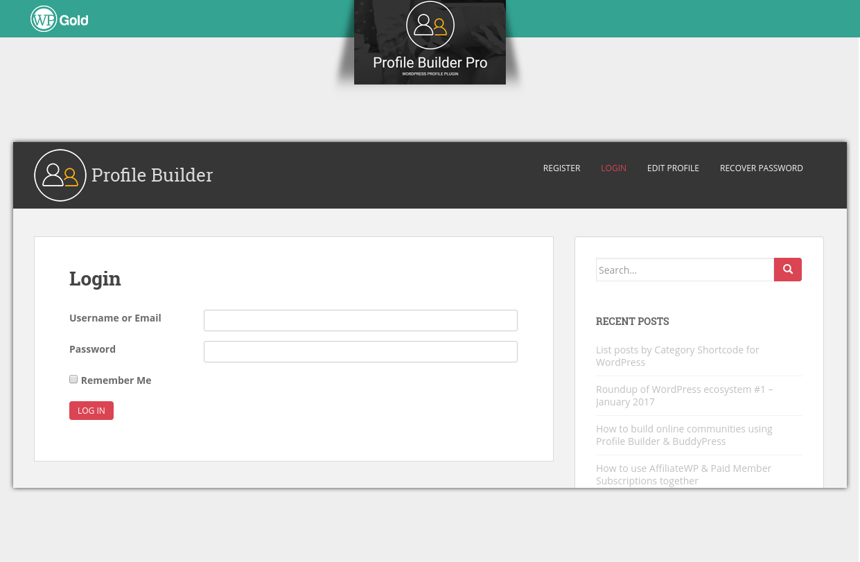 ProfileBuilder авторизация