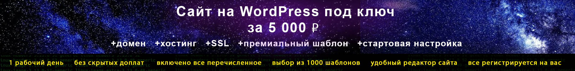 сайт на ВордПресс за 5000