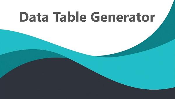 обзор плагина data table generator