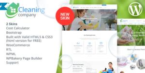 обзор темы wordpress Cleaning Servicesl