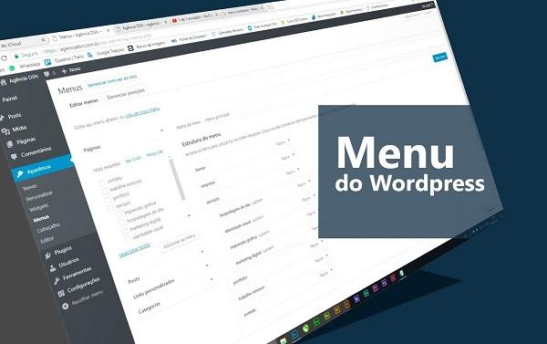 добавление и настройка меню wordpress