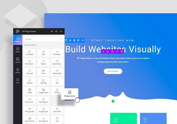 обзор визуального конструктора (редактора) wp page builder