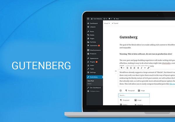 обзор редактора блоков gutenberg