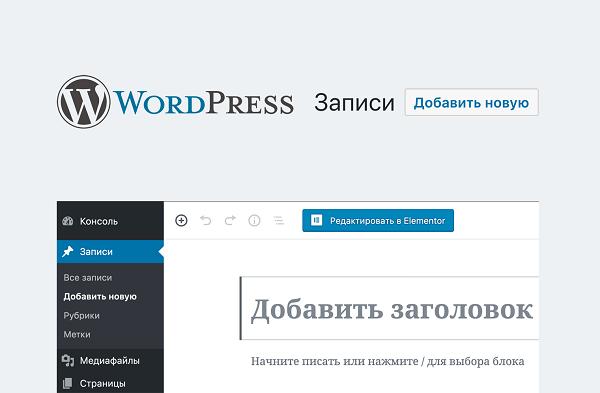 метки и рубрики wordpress - сходства и отличия