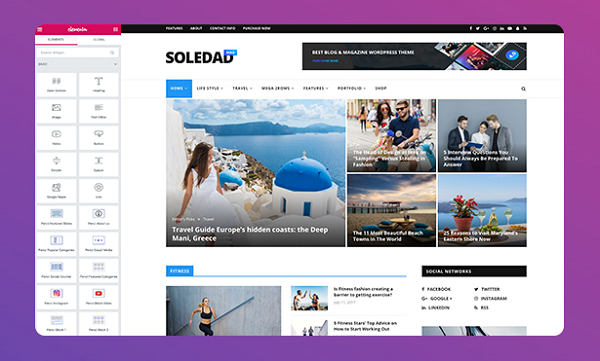 обзор wordpress темы soledad