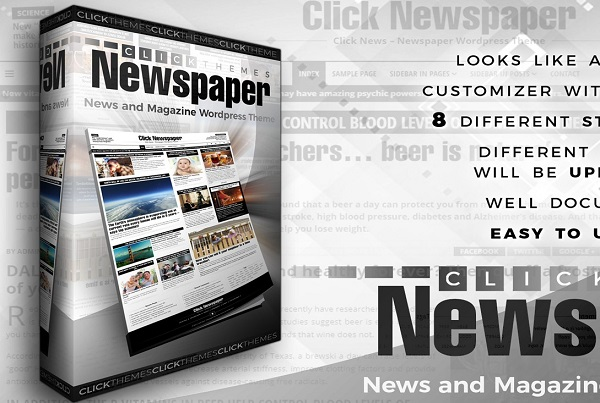 обзор wordpress темы click newspaper