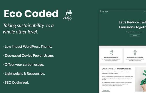 обзор wordpress темы ecocoded