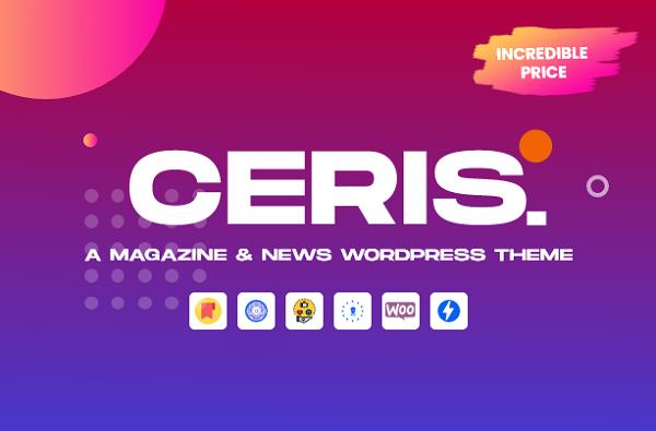 обзор wordpress шаблона ceris