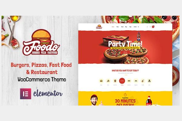 обзор wordpress темы foodo