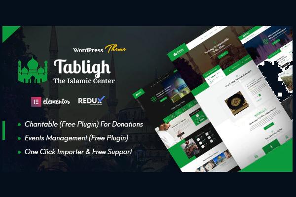 обзор wordpress темы tabligh