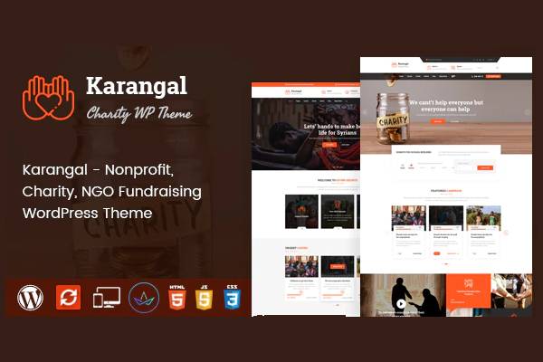 обзор wordpress шаблона karangal