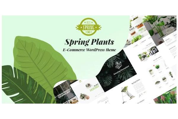 обзор wordpress темы spring plants