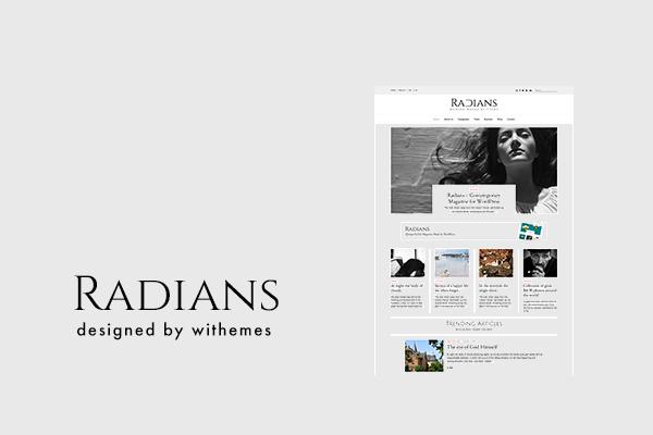 WordPress тема Radians - интернет-магазин на волне модернизма