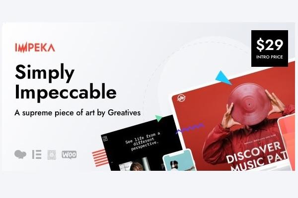 Еще больше креатива - универсальная WordPress тема Impeka