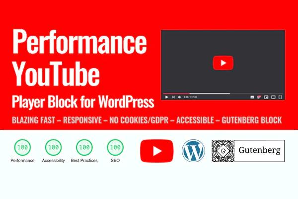 Performance YouTube - недорогое решение для вставки медиа с YouTube