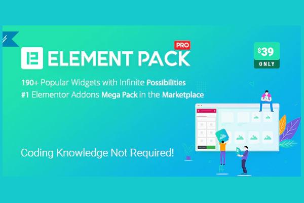Плагин Element Pack - еще больше для Elementor