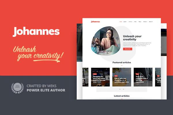 Johannes - креативная блоговая WordPress тема