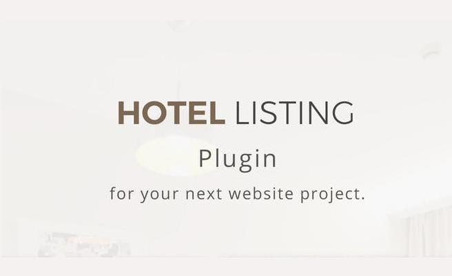 обзор wordpress плагина hotel listing