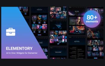 Elementory - подборка уникальных виджетов для Elementor