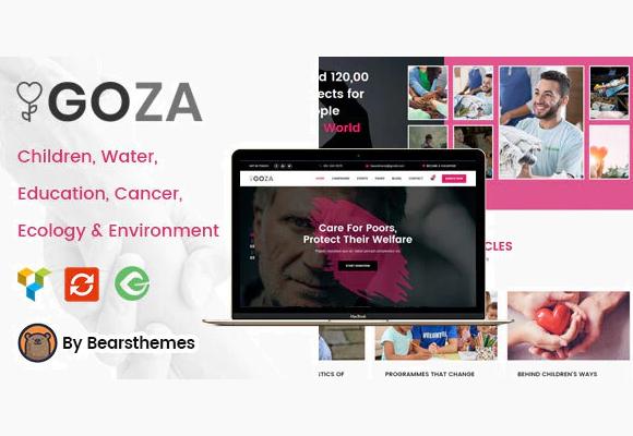 Goza - 100% актуальный и понятный шаблон для благотворительности